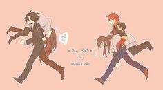 Mystic Messenger- Jumin Han, Seven (Choi Saeyoung /Luciel)(707), and Mc #Otome #Game #Anime. Susanghan Messenger