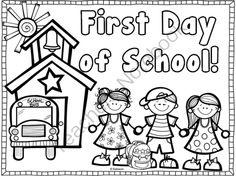 Freebie! Enjoy this coloring page to use to welcome your new class back to school! This is a great project for your students to work on during that busy first day while you organize and take care of first day business! It also makes for a great photo prop