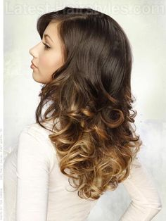 Oh My Ombre Long Wavy Style Side View