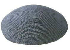Grey Knit Kippot Enhance your occasion with our line of personalized Hand Knit Kippot.
