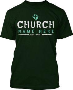 Stencil Brush Church T-Shirt Design #433