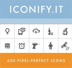 Iconify: 650+ Pixel-Perfect Icons - only $14! - MightyDeals