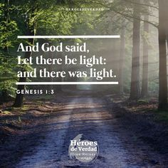 And God said, let there be light: and there was light.  #faith #God #future #motivation #inspiration #trueheroes