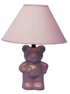 MPN: 611PK ORE International 611PK Ceramic Teddy Bear Lamp, Pink [Tools Home Improvement] by ORE. $38.43. This table lamp adds delight to a childs room with its teddy bear design MPN: 611PK