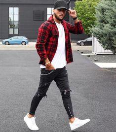 Como usar boné masculino - Dicas de moda masculina e guia de estilo para 2020 Stylish Mens Outfits, Casual Outfits, Men Casual, Casual Styles, Casual Wear, Urban Style Outfits, Smart Casual, Men Looks, Mode Outfits