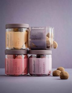 Karamelleriet  Copenhagen design studio Bessermachen created this frankly beautiful branding and packaging design to reflect the handmade aesthetic of the caramel producing Karamelleriet.  Creating an entirely new visual identity that contains everything from the logo to packaging to display and flyers, Karamelleriet has achieved an expression that is the caramel production worthy.