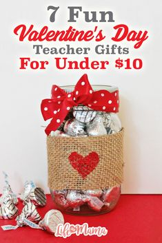 If you love giving gifts to your kids' teachers than you are probably looking at your calendar and noticing how Valentine's Day is approaching quickly!  Check out some of these sweet gifts for your teachers this Valentine's Day!