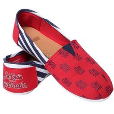 St. Louis Cardinals Women's Canvas Stripe Shoes