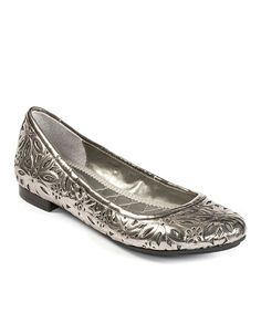 Love this Pewter Alyse Leather Flat on #zulily! #zulilyfinds
