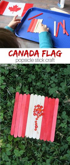 This Canada Flag Craft is a great idea for teaching kids about Canada and instilling some national pride before Canada Day. You can modify this easy kids craft idea to make any a flag for any country you'd like. Easy Crafts For Kids, Craft Activities For Kids, Crafts To Make, Fun Crafts, Activity Ideas, Craft Ideas, Paint Stick Crafts, Popsicle Stick Crafts, Canada For Kids