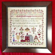 Hannah Atkinson is the title of this cross stitch pattern from Victorian Rose Needleworks.