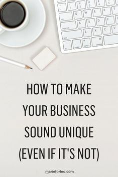 Want your business to stand out from the crowd? Here are some tips on how to help your business sound more unique.  #MarieForleo #MarieTV #SmallBusiness #SmallBiz #BusinessStrategies #businessTools #SellingToCustomers