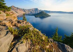 The extraordinarily deep waters of Crater Lake yield an intense sapphire-blue hue. (From: Photos: 12 Most Beautiful Lakes )