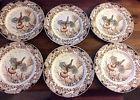 6 Johnson Brothers Wild Turkeys Windsor Ware Thanksgiving Dinner Plates