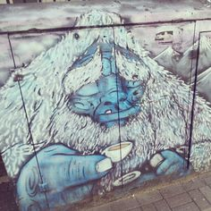 Instagram: kaateflood - Graffiti on an electricity box in Brighton