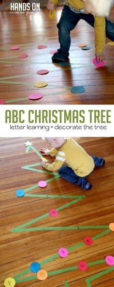 Decorate the Christmas Tree Activity with ABCs via @handsonaswegrow