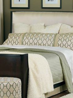 Give your master suite a contemporary makeover with the Brenn Bedding Collection that features a stylish, neutral design.