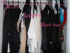 Closet top row organization