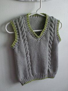 New Knitting Vest Pattern Children Ideas Knitting Patterns Boys, Baby Boy Knitting, Knitting For Kids, Knitting Stitches, Free Knitting, Crochet Baby, Knit Crochet, Knit Vest Pattern, Knitted Baby Clothes
