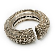 India | Hollow decorated silver bracelet