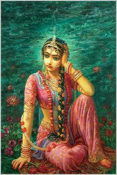 Shree Radhe feeling separation from Lord Krishna
