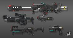 Commission: Laser Weapons by aiyeahhs.deviantart.com on @DeviantArt