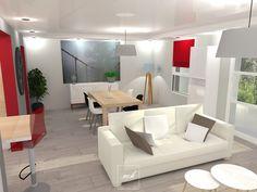 A #Montmorency, Tiphanie travaille sur le réagencement intérieur d'un appartement dont l'espace séjour. Après avoir modifié le salon, elle s'occupe de la #SalleAManger