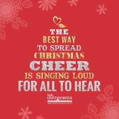 The best way to spread Christmas cheer is singing loud for all to hear! Natural Baby, Christmas Quotes, Skin Problems, Organic Baby, Cheer, Singing, Good Things, Skin Care, Pure Products