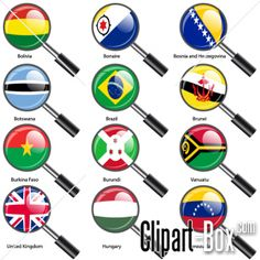 CLIPART FLAGS MAGNIFIERS 03