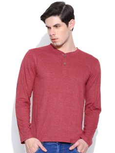 Dream of Glory Inc. Red Henley T-shirt