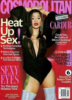 DIARY OF A CLOTHESHORSE: #STUNNING -  Cardi B covers Cosmopolitan Magazine ...