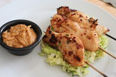 Food I Make My Soldier: Chicken Satay with Peanut Sauce