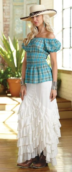 Zorro Skirt & Peasant top BLACK FRIDAY SALE!!! 30% OFF-ONE DAY ONLY! call 323-882-8278 for info or to place an order! marrikanakk.com