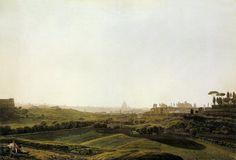 Jakob Philipp Hackert, Rome Viewed from the Baths of Caracalla (ca. 1779-80), watercolor over graphite, Staatliche Museen zu Berlin, Kupferstichkabinett