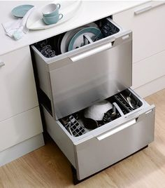 Swanky dishwasher: The new DishDrawer from Fisher Paykels has a tall top drawer, which can handle 13-inch plates with ease.