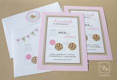 Brides, Birthdays, and Babies Blog by Tiger Lily Invitations: Milk and Cookies Birthday Party