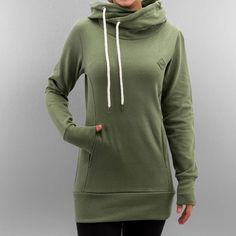 Urban Classics Hoody Long Logopatch in olive 293885