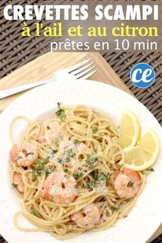 You are going to love this Lemon Garlic Shrimp Scampi Recipe. Lemon shrimp scampi recipe is ready in just 10 minutes! Garlic shrimp scampi recipe is one of our favorite shrimp recipes.Try this simple and quick recipe today for a healthy meal idea! Quick Shrimp Scampi Recipe, Garlic Shrimp Scampi, Easy Shrimp Scampi, Shrimp Scampi Without Wine, Shrimp Linguini, Shrimp Recipes For Dinner, Seafood Dinner, Best Dinner Recipes, Seafood Recipes