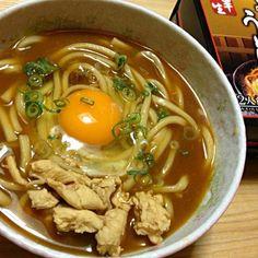 名古屋のお土産。麺が太麺でもちもちしておいしい。 - 10件のもぐもぐ - 味噌煮込みうどん by pianokitty