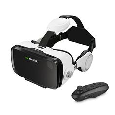 """(VR Headset, ELEGIANT 3D VR Glasses, Virtual Reality Headset Built-in Headphone with Remote Control, Compatible with iPhone 6 / 6s /6 Plus/5s/5 Samsung S7/S6 and Other 4.0""""-6.0"""" Smartphones Review) Buy-Accessories.net"""