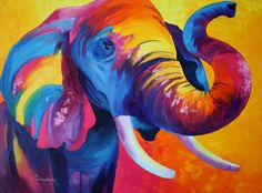 Elephant (绘画),  80x60 cm Tetiana Gorbachenko 60 x 80 cm
