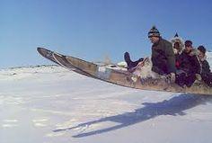 Umiak sled used in Labrador.