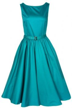 Lindy Bop 1950's Audrey Hepburn style rockabilly swing party evening dress Vintage Teal