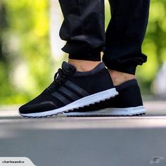 Adidas Los Angeles Shoes Colour: Black White Made from: Microsuede Premium  mesh upper Continental