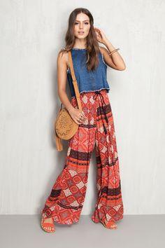 calça maxi pantalona shadow | Dress to