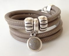 Leren armbanden google zoeken armbanden pinterest leather jewelry and armband - Taupe gekleurde ...