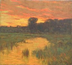 """""""Sunset on the Marsh,"""" Charles Warren Eaton, oil on canvas, 16 x 18'', private collection."""