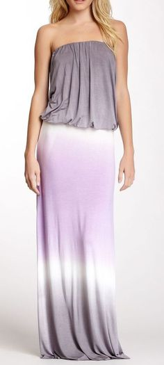 Lavender Ombre Maxi Dress