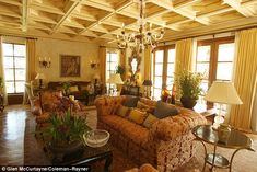 Old Hollywood glamour: Erika employed interior designerJoan Behnke to give the estate an aura of old Hollywood