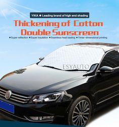 [Visit to Buy]  Winter Car Window Sunshade Car Snow Covers For SUV Ordinary Car Sun Shade Reflective Foil Car Windshield Snow Blocked Anti-UV #Advertisement